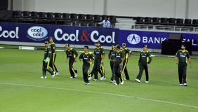 Pakistan Cricket Team. During second international T20 Stock Photography