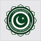 Pakistan Defence day, 6 September. Defence Day is celebrated in Pakistan as a national day on 6 September, Republic of Pakistan address on 6th September from Stock Images