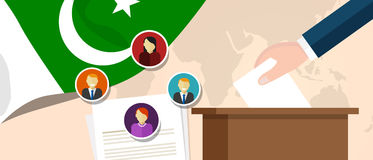 Pakistan democracy political process selecting president or parliament member with election and referendum freedom to Royalty Free Stock Photography