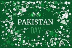 Pakistan dzień niepodległości Zdjęcie Stock