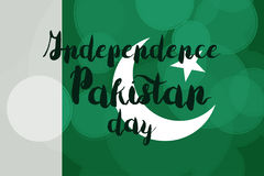 Pakistan dzień niepodległości Zdjęcia Royalty Free