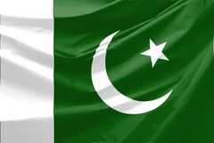 Pakistan Flag. Wavy and realistic Pakistan Flag Stock Images