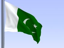 Pakistan flag Royalty Free Stock Images