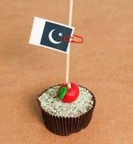 Pakistan flag on a apple cupcake Stock Photo