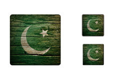 Pakistan Flag Buttons Stock Photography