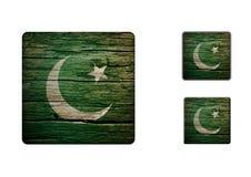 Pakistan Flag Buttons Stock Photography