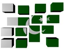 Pakistan Flag on cubes Royalty Free Stock Photo