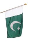 Pakistan flag. Isolated on white Royalty Free Stock Photography