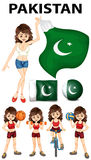 Pakistan flag and many sports Stock Image
