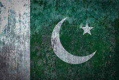 Pakistan Flag painted on a Wall. Ddistressed Painting of a Flag on an old Wall Stock Images