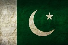 Pakistan Flag on Paper. Flag on an old Paper Texture Stock Images