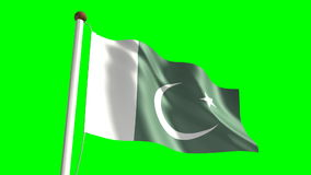 Pakistan flag stock video