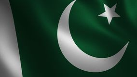 Pakistan flag waving 3d. Abstract background. Loop animation. royalty free illustration