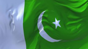 229. Pakistan Flag Waving in Wind Continuous Seamless Loop Background. stock illustration