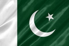Pakistan flagga royaltyfri illustrationer