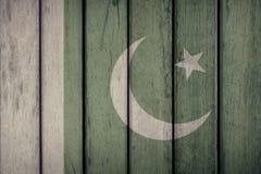 Pakistan-Flaggen-Bretterzaun lizenzfreie stockfotos