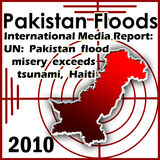 Pakistan Floods 2010. Pakistan flood condition with international media report Royalty Free Stock Photography