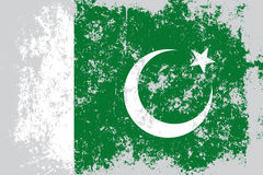 Pakistan grunge, old, scratched style flag Stock Photo