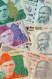 Pakistan and India banknotes Stock Photo