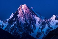 Pakistan Karakoram K2 trekking Gasherbrum. Pakistan The Great Karakoram K2 、Nanga Parbat 、Hindu-kush trekking stock photo