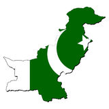 Pakistan map flag Stock Photos