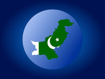 Pakistan map flag sphere Royalty Free Stock Photography