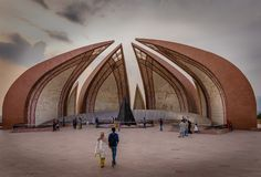 Pakistan monument in Islamabad in April royalty free stock photography