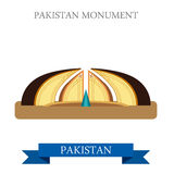 Pakistan Monument Islamabad vector attraction travel landmark. Pakistan Monument in Islamabad. Flat cartoon style historic sight showplace attraction web site Royalty Free Stock Photo