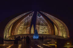 Pakistan Monument at Night Stock Image