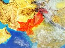 Pakistan na ziemi od przestrzeni ilustracja wektor