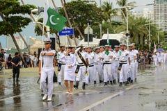 Pakistan Navy parade marching in International Fleet Review 2017