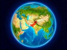 Pakistan på jord Royaltyfria Bilder