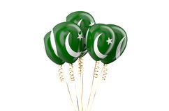 Pakistan patriotic balloons holyday concept Royalty Free Stock Photo