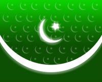 Pakistan patriotiska bakgrund Arkivfoto