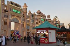 Pakistan pavilion at Global Village in Dubai, UAE. As seen on Dec 11, 2018. It is claimed to be the world`s largest tourism, leisure and entertainment project royalty free stock images