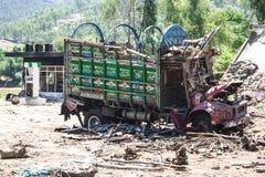 Pakistan powodzie i Buner ocena Fotografia Stock