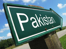 PAKISTAN road sign Royalty Free Stock Image