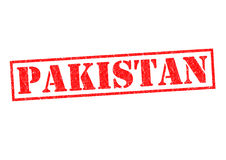 PAKISTAN. Rubber Stamp over a white background Royalty Free Stock Photos