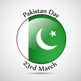 Pakistan`s Day background. Illustration of elements for Pakistan`s Day Stock Images