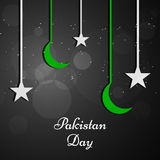 Pakistan`s Day background. Illustration of elements for Pakistan`s Day Stock Photography