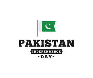 Pakistan självständighetsdagen, 14th august vektoremblem Royaltyfria Bilder
