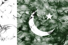 Pakistan smoke flag isolated on a white background. Pakistan smoke flag isolated on a white background Royalty Free Stock Photography