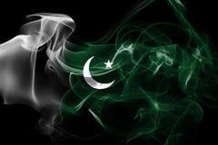 Pakistan smoke flag Stock Photos