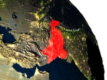 Pakistan from space Stock Images