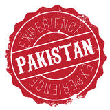 Pakistan stamp rubber grunge Royalty Free Stock Images