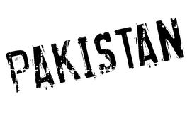 Pakistan stamp rubber grunge Stock Images