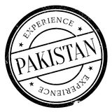Pakistan stamp rubber grunge Royalty Free Stock Photography