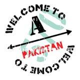 Pakistan stamp rubber grunge Stock Photo