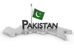 Pakistan-Tribut lizenzfreie abbildung