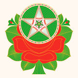 Pakistan Truck Art - Star and Rose Royalty Free Stock Photo